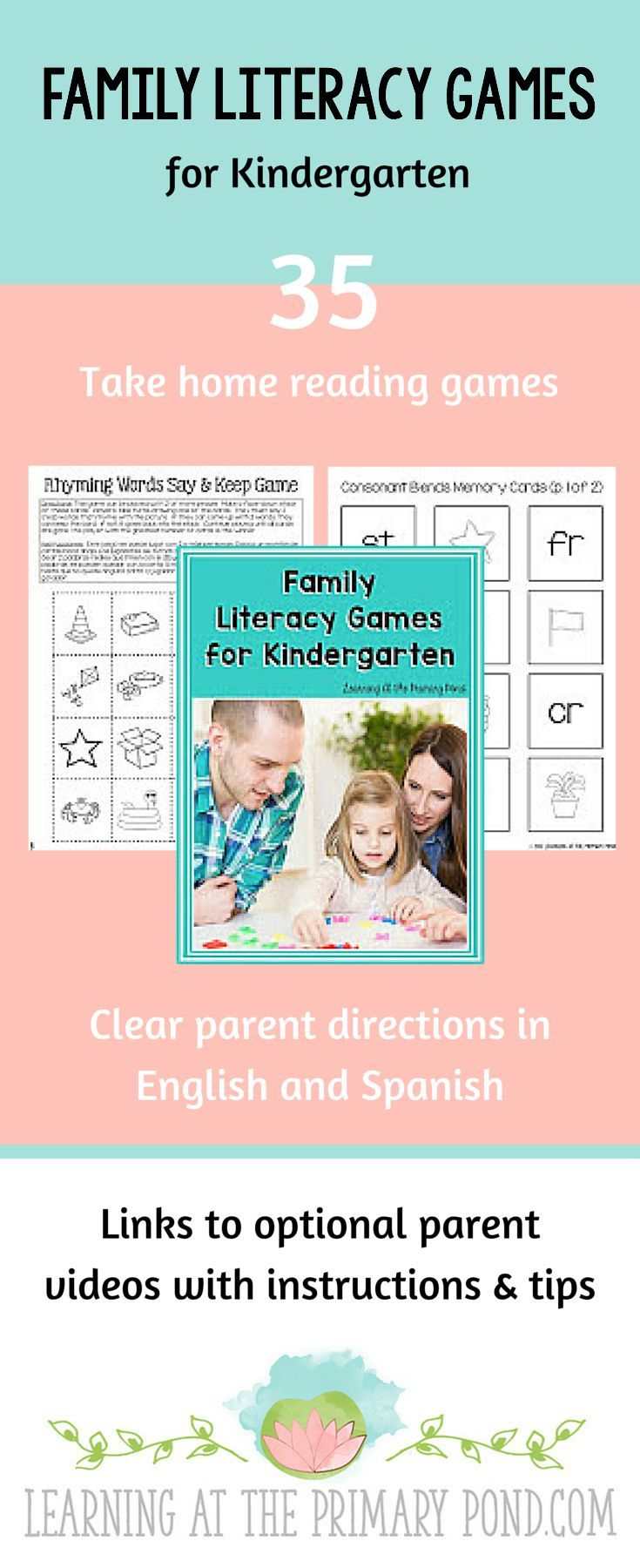 Family Literacy Games {TakeHome Reading Activities for