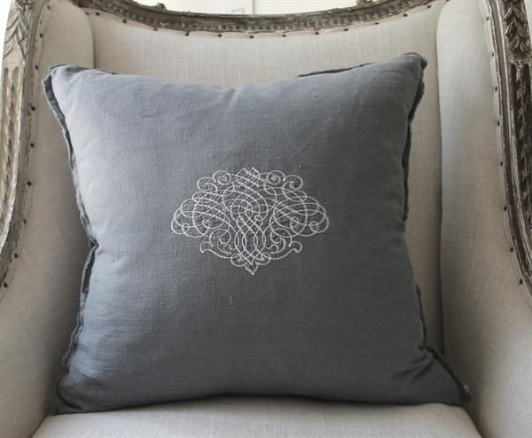 Vintage Edge Grand Crest Pillow Cover from Full Bloom Cottage