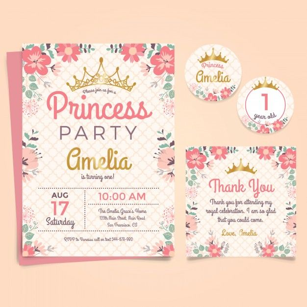 Download Princess Birthday Invitation for free Princess