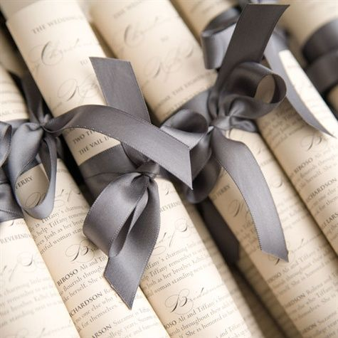scroll styled ceremony programs teenie ties the knot pinterest