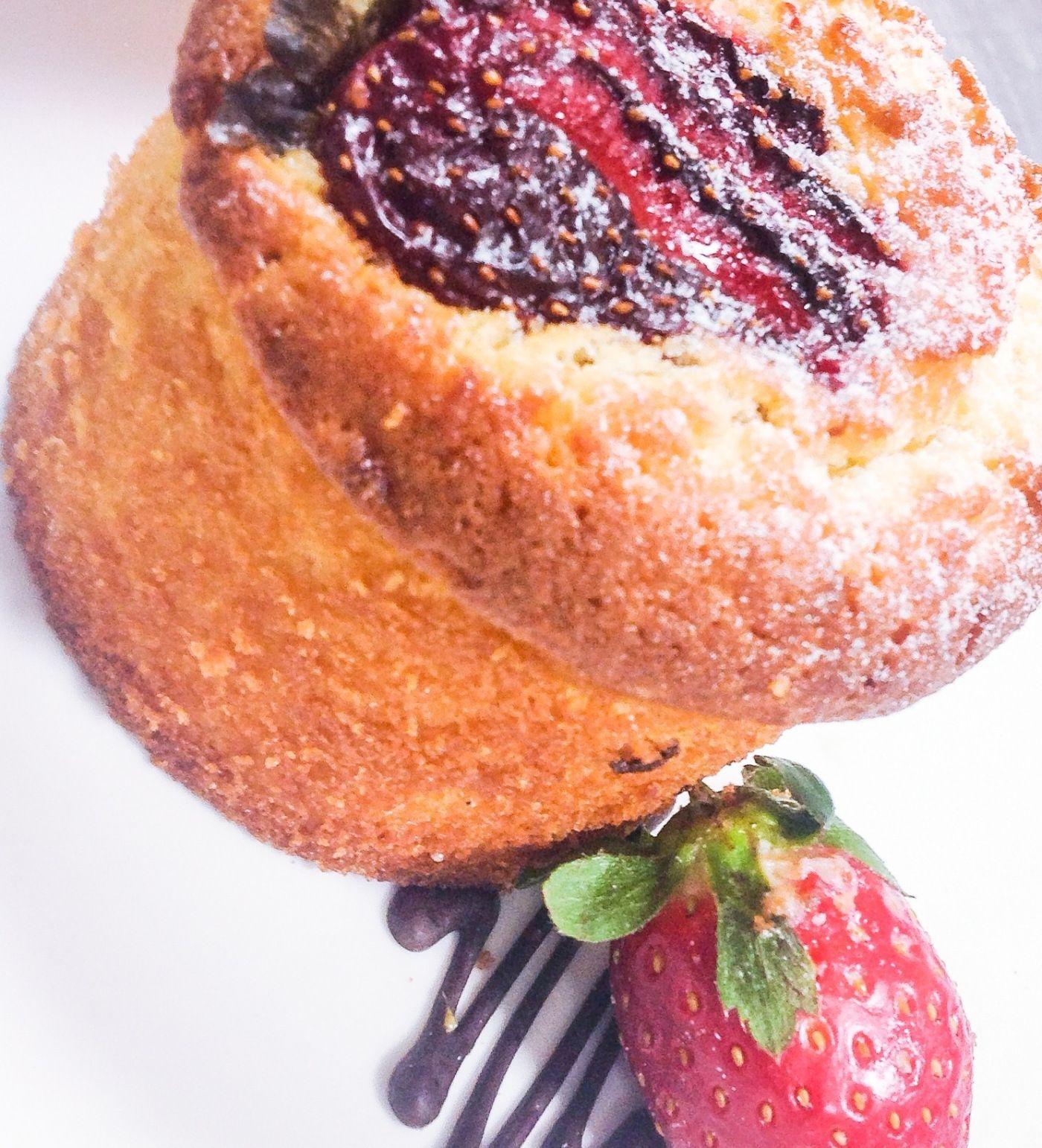 Strawberry Frangipane with a gluten free option...
