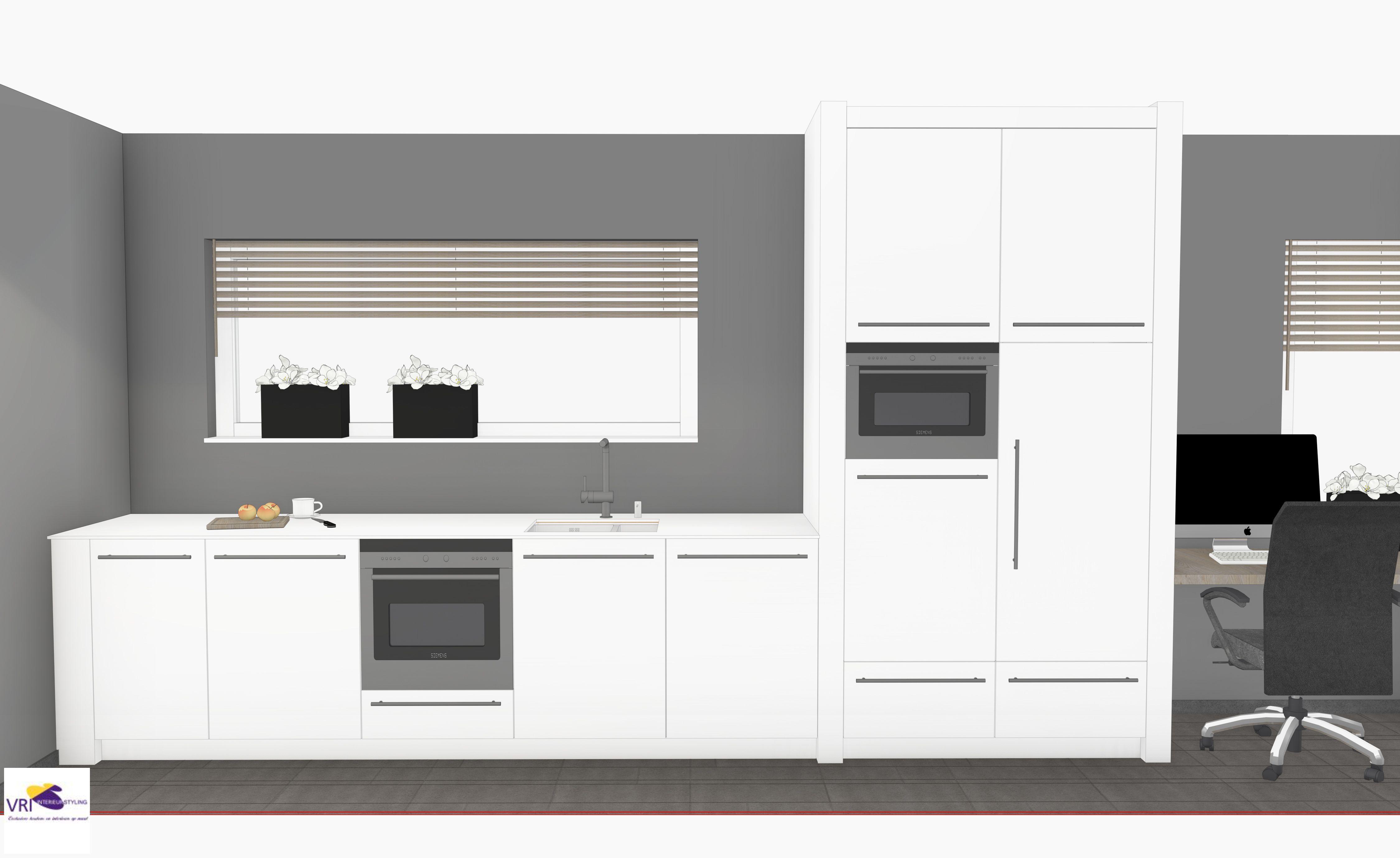 Moderne design keuken hoogglans in 3d ontwerp monique for 3d ontwerp keuken