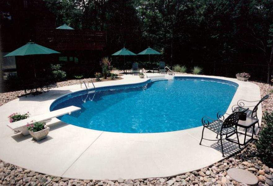 inground pools with diving boards - Google Search | Pool ...