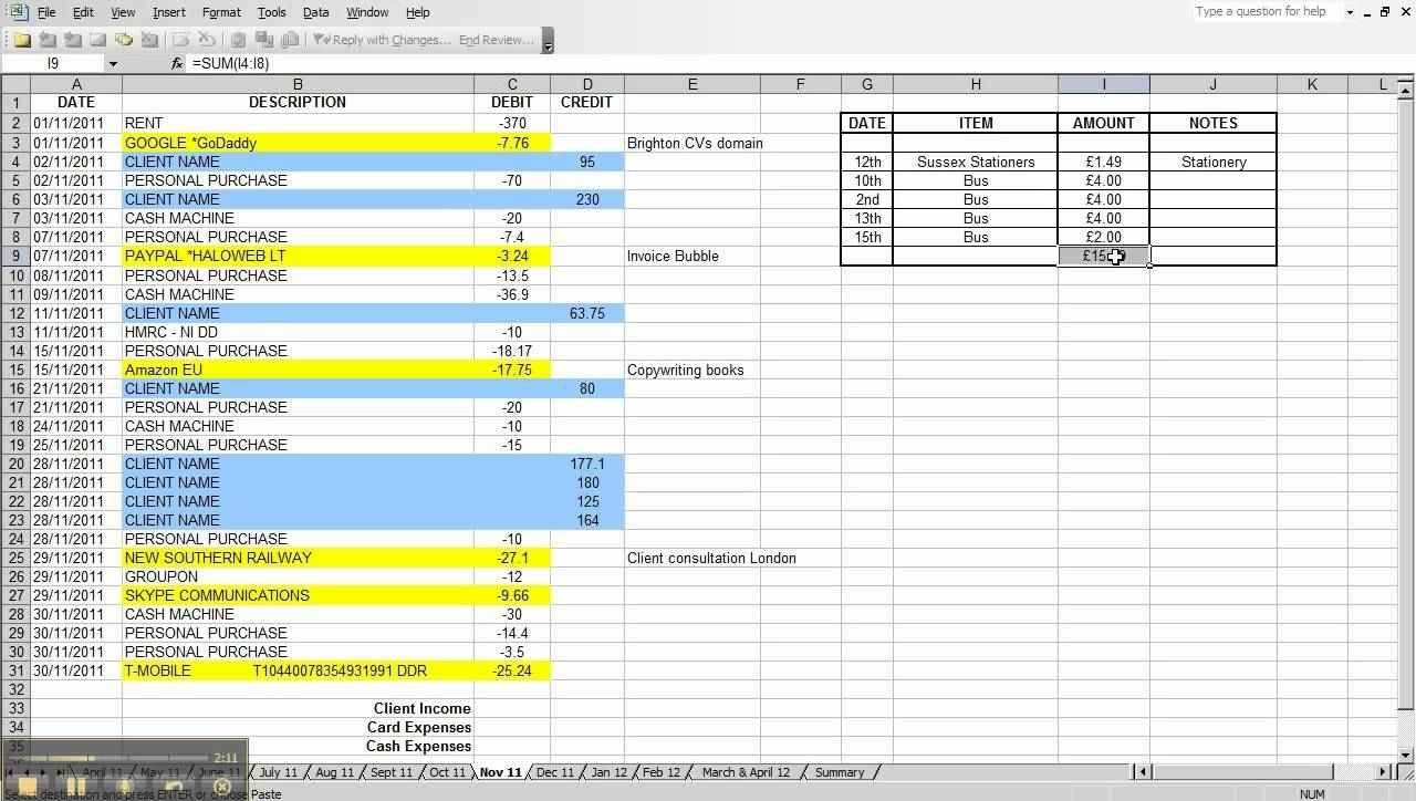 Excel Spreadsheet Template For Small Business And Marketing