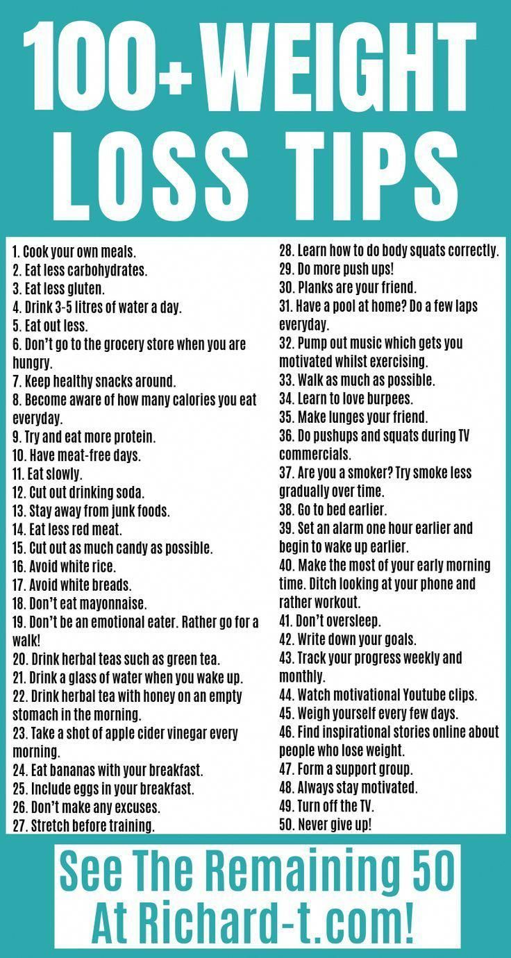The ultimate weight loss tips list! Make sure you try all of these out when trying to lose weight!  ...