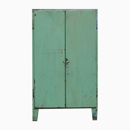 Grüner Industrieller Vintage Schrank, 1960er Jetzt bestellen unter - Schrank Für Wohnzimmer