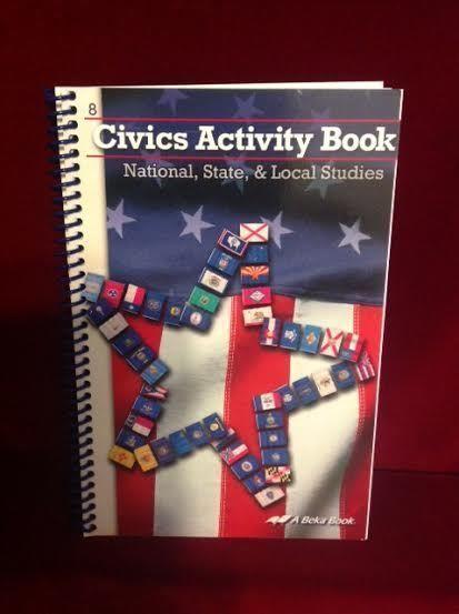 Abeka Civics Activity Student Book Like New Gr 8 History
