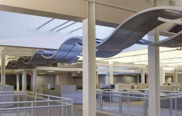 Plafones curvos que resalta el diseño interior de la estructura http://www.procovers.com.mx/