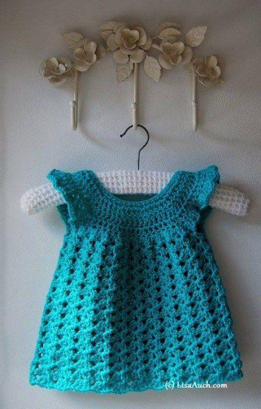 Span Classcaptiontextbeautiful Easy Crocheted Baby Dressspan