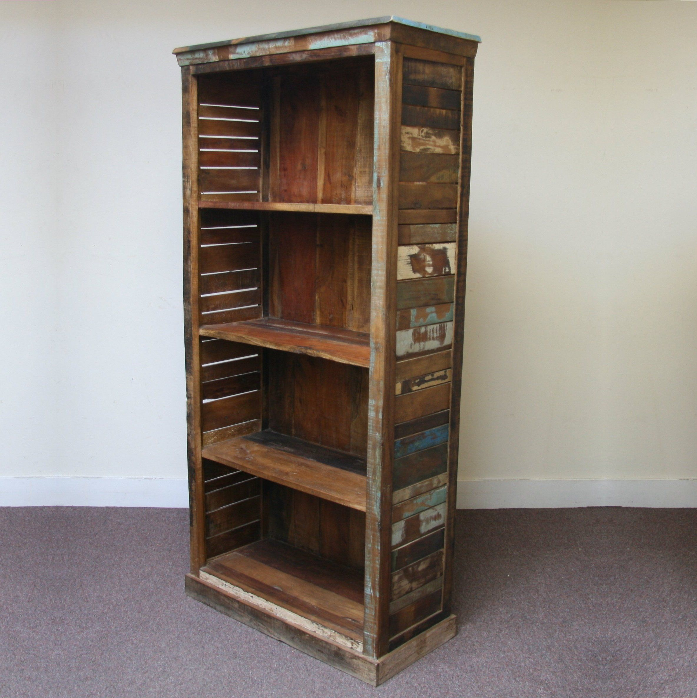 RECLAIMED WOOD BOOKCASE - JUGs Indian Furniture & Accessories