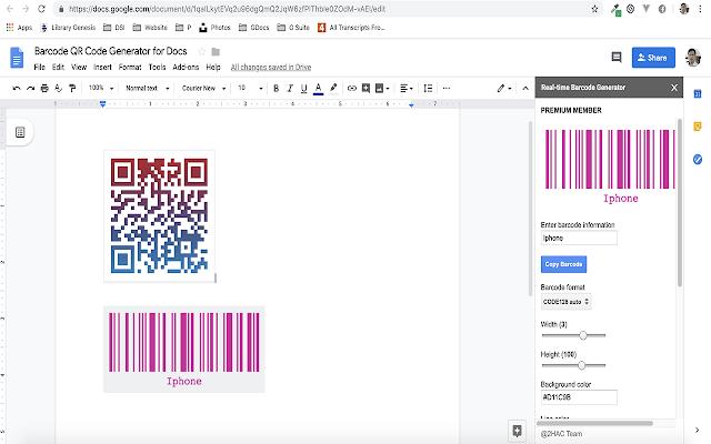 Barcode Qr Code Generator For Docs