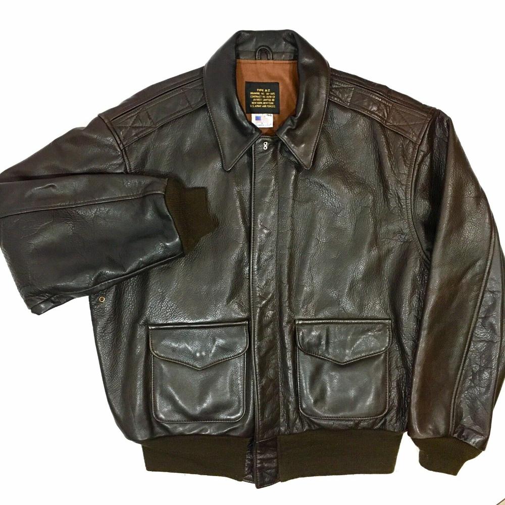 Avirex Usaf Goat Leather A 2 Us Air Force Pilot Bomber Coat Army Flight Jacket Ebay Jackets Bomber Coat Leather Bomber Jacket [ 1000 x 1000 Pixel ]