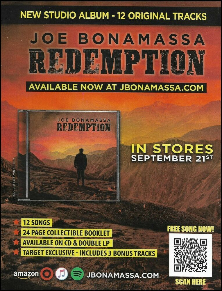 Joe Bonamassa 2018 Redemption Advertisement 8 X 11 Ad Print In 2020 Joe Bonamassa Derek Trucks Buddy Guy