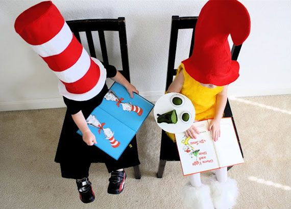 Cat in the Hat  Sam I Am @Chelsea Schultz Cadence and Baby Schultz - dr seuss halloween costume ideas