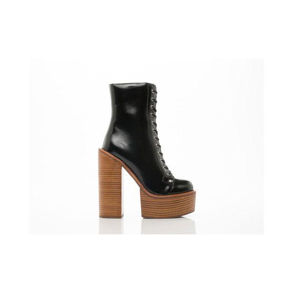 Jeffrey Campbell Paulita ($220) found on Polyvore featuring shoes, black box, jeffrey campbell shoes, black platform shoes, black high heel shoes, high heel shoes and platform shoes