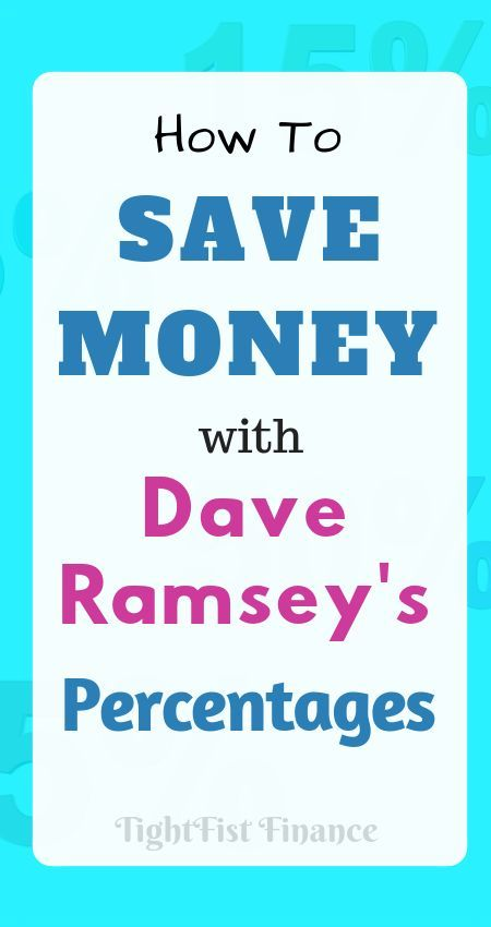 Dave Ramsey household budget percentages