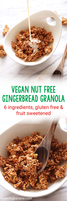 Vegan Nut Free Gingerbread Granola | Recipe | Vegan ...