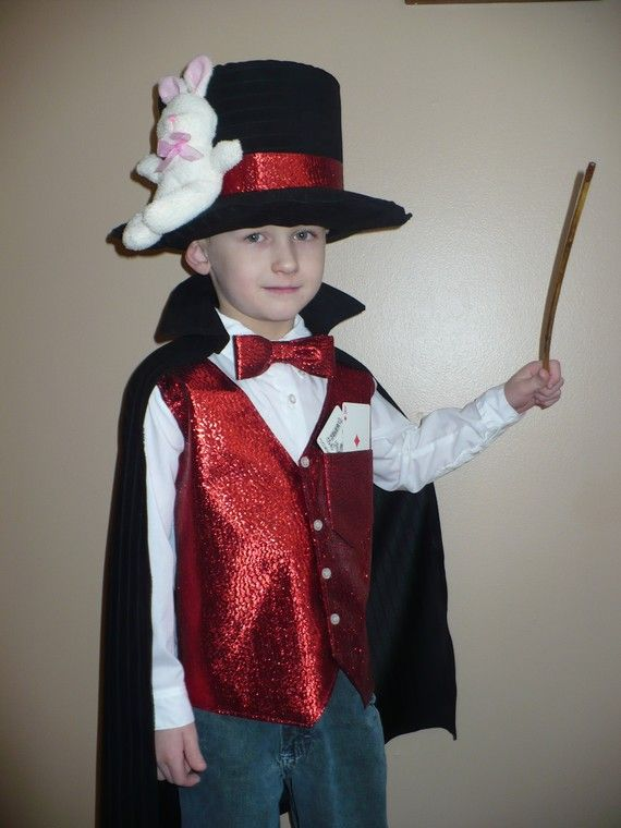 Magician Costume for Halloween/Dress Up size 4 Six by SoSewMimi $75.00  sc 1 st  Pinterest & Magician Costume for Halloween/Dress Up (size 4) Six piece set ...
