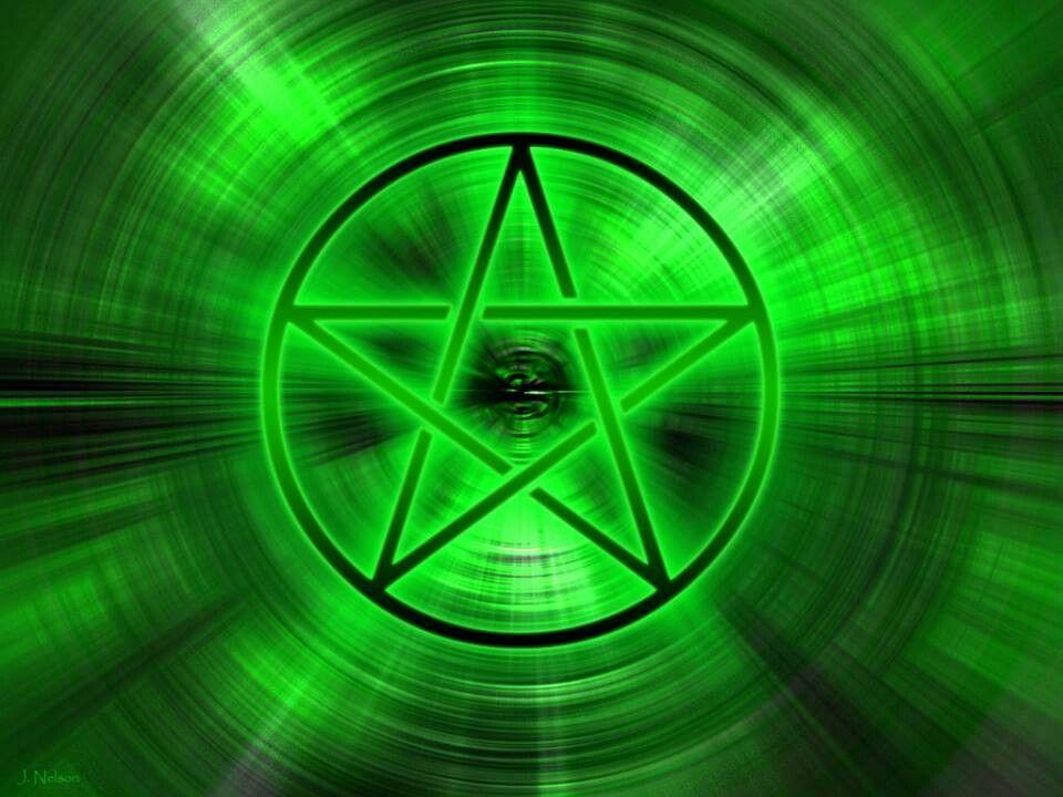 Green Outlined Pentagram Pentagram, Lighting design