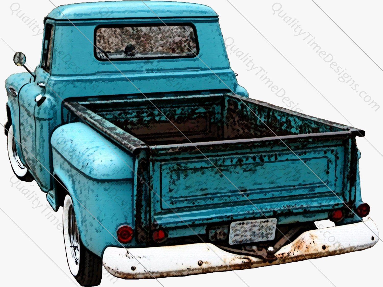 11++ Vintage blue truck clipart info