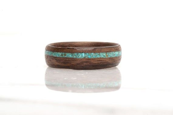 Men turquoise rings, Turquoise rings mens, Mens turquoise rings, Wood rings, Wedding band, Gay mens rings Silver and turquoise rings