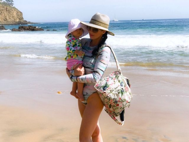 Jujube Rosy Posy diaper bag  Colourful print long sleeve swimsuit