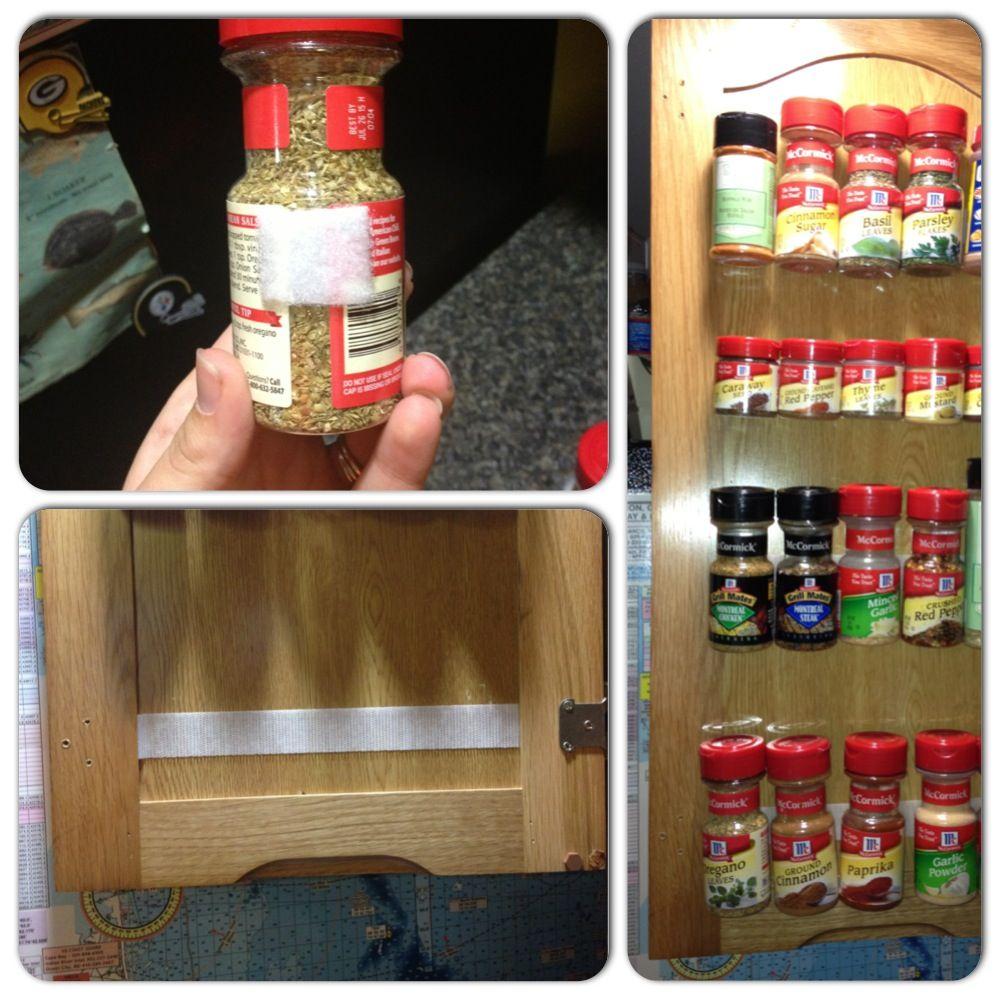 Diy Kitchen Spice Rack: DIY Spice Rack. Just Add Velcro!