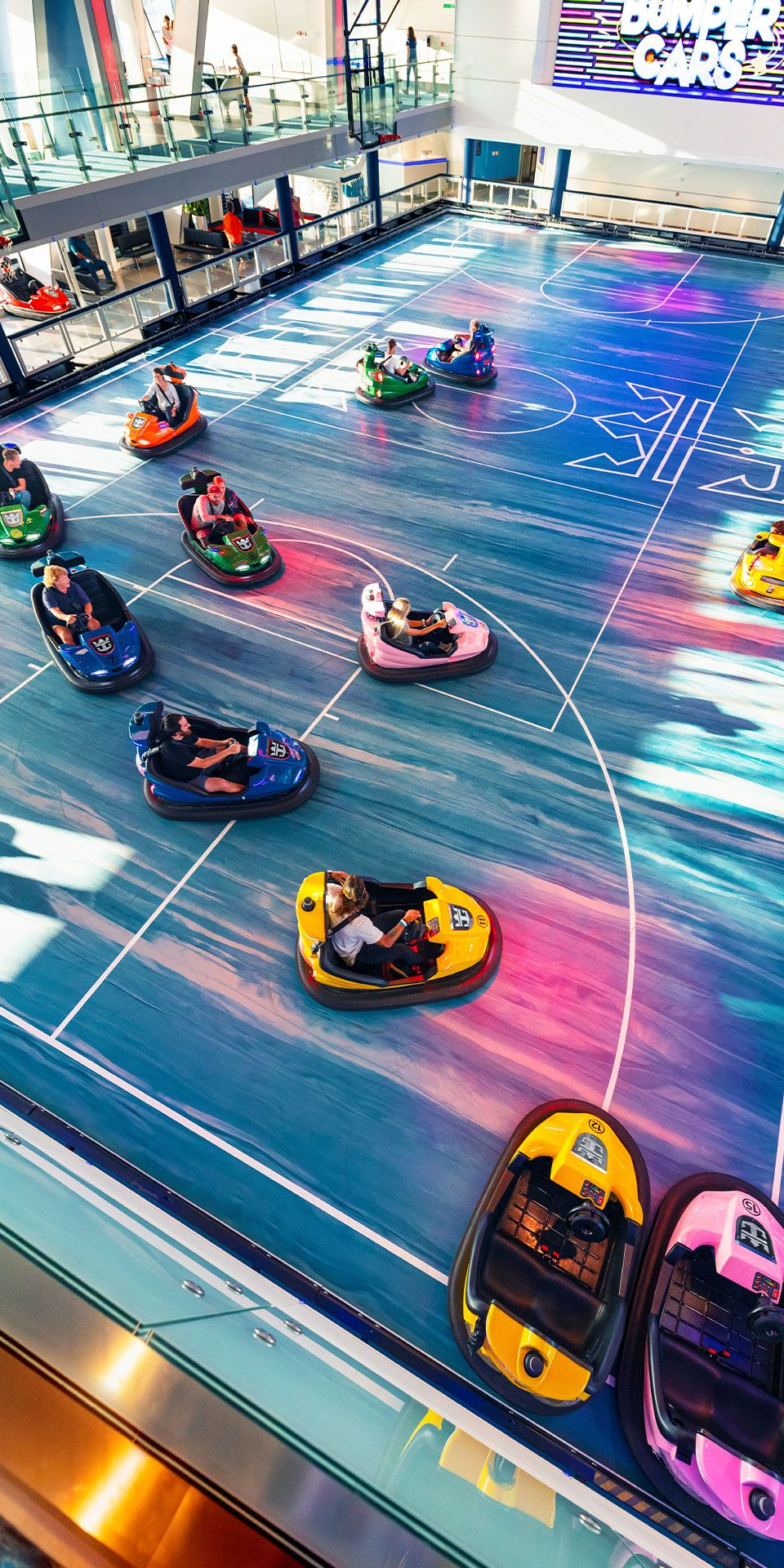Ovation Of The Seas Rush Hour Gets A Thrilling Spin At The Largest Indoor Activity Space Ever To Set Sail In 2020 Cruise Ship Royal Caribbean Cruise Pacific Cruise