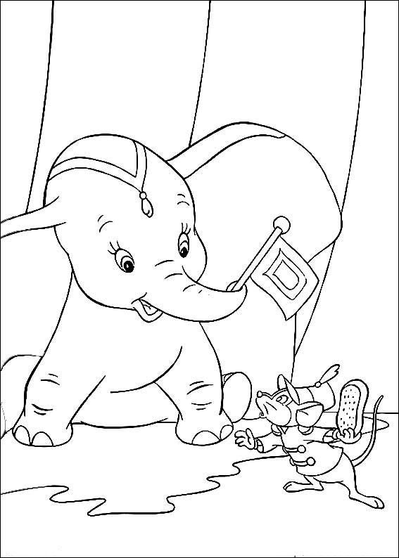 Dibujos para Colorear Dumbo 5 | Dibujos para colorear para niños ...