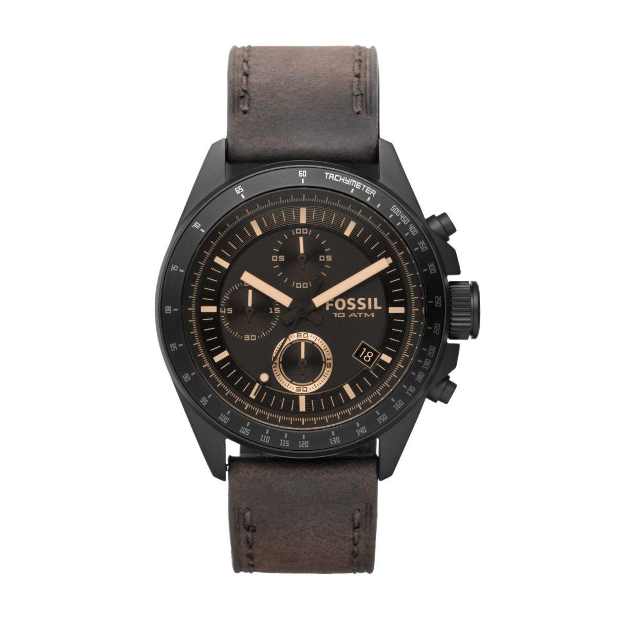 57aefca1b9fc Reloj Fossil Ch2804 Cronógrafo Resina Cuero 100% Original