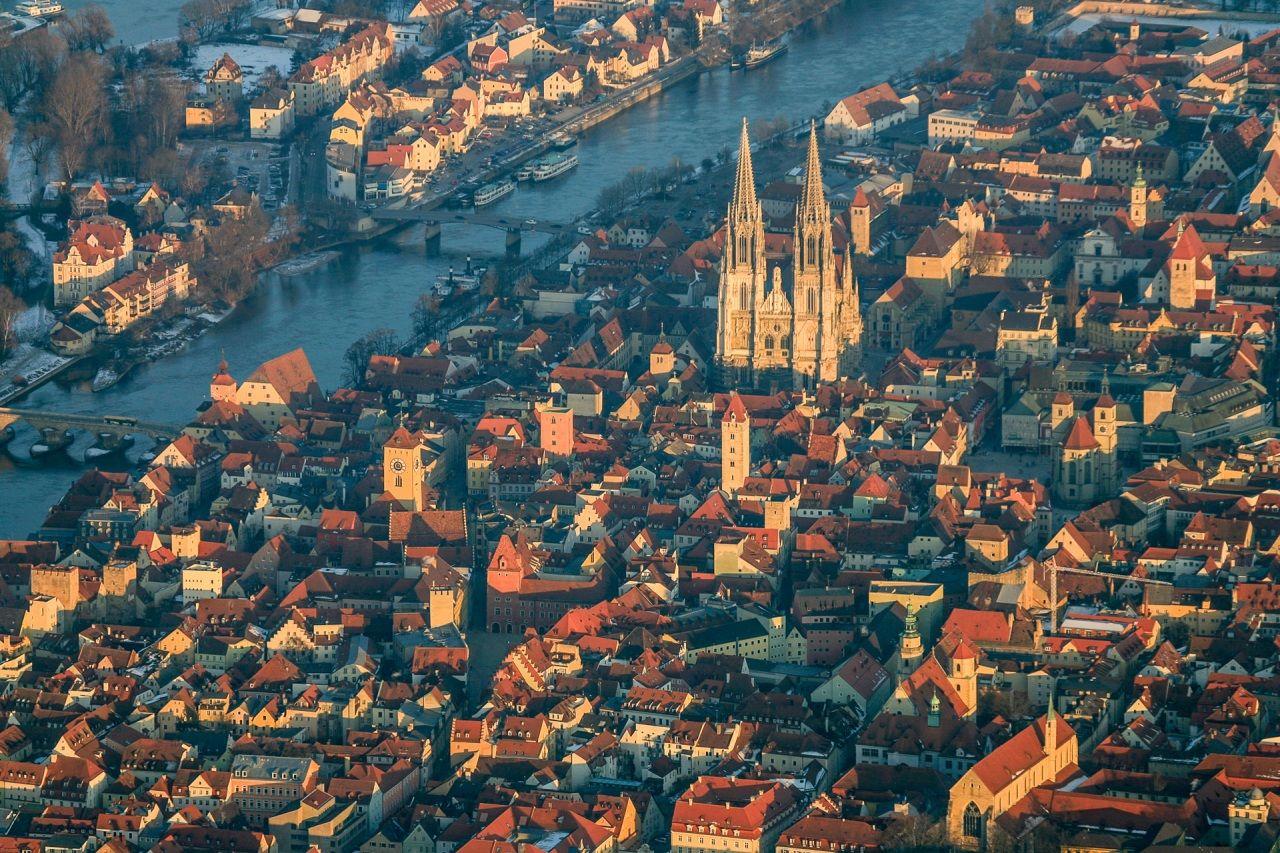 Haus Deutschland Von oben Regensburg Städte