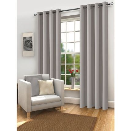Mali Thermal Blackout Eyelet Curtain 46 X 72 Blackout Eyelet Curtains Curtains Living Room Grey