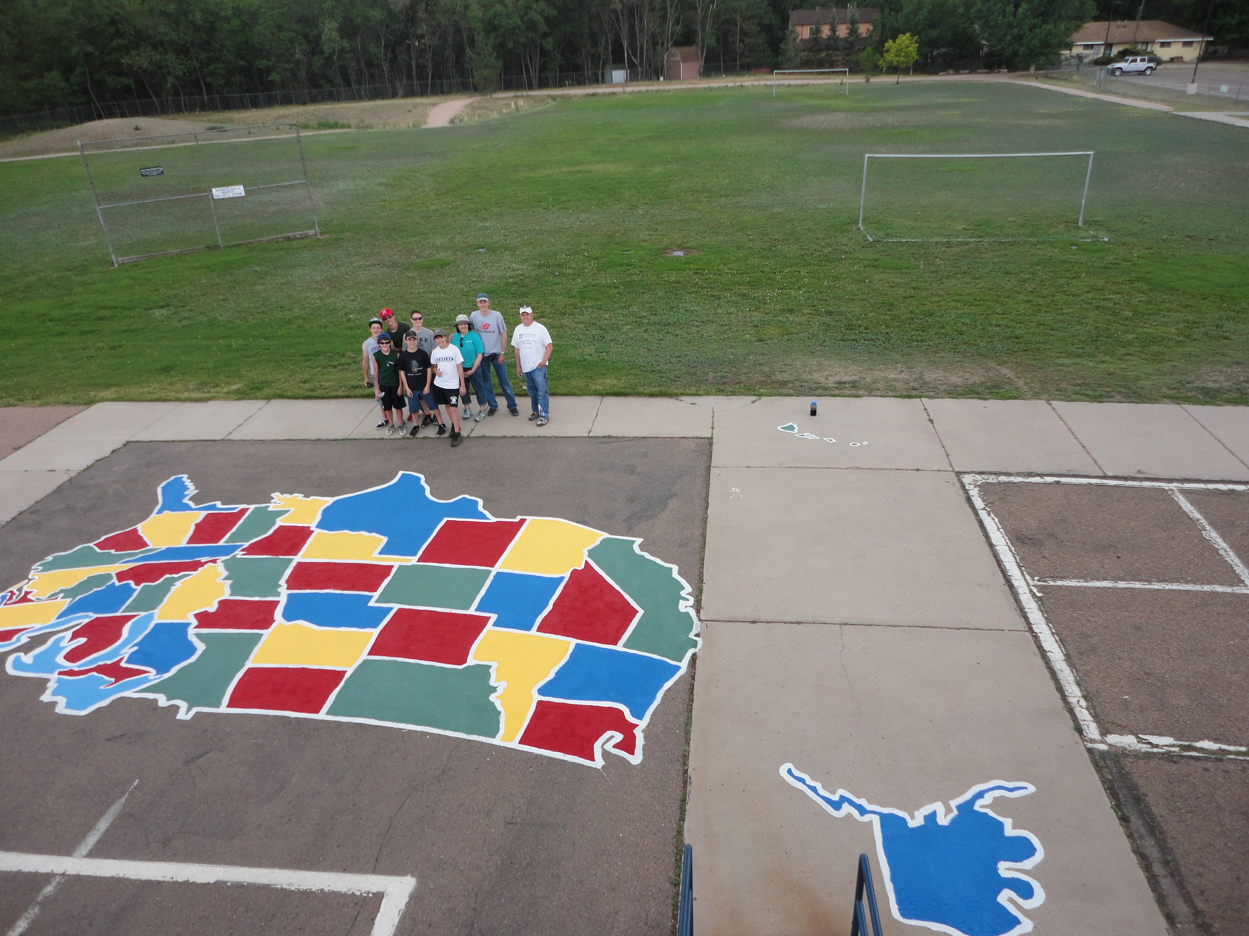 Really Great Eagle Scout Project US Map Stencil Pinterest - Giant us map stencil