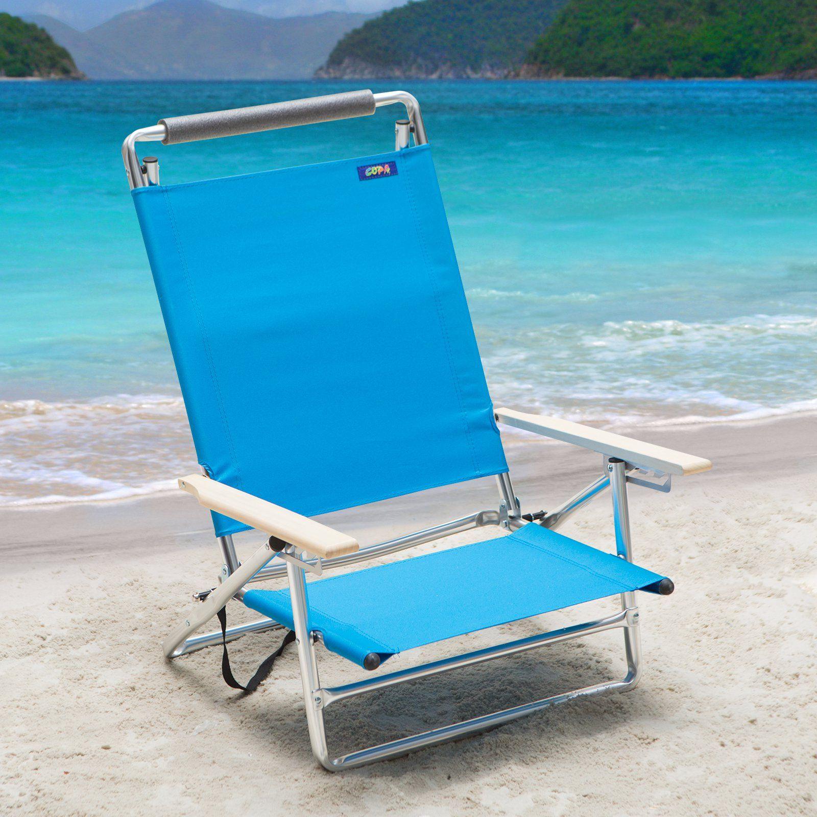Outdoor Copa 5Position LayFlat Aluminum Beach Chair