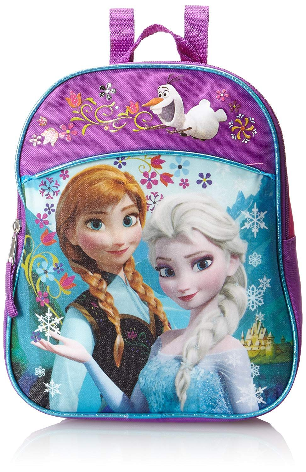 Disney Little Girls' Anna and Elsa Mini Backpack, Pink ...