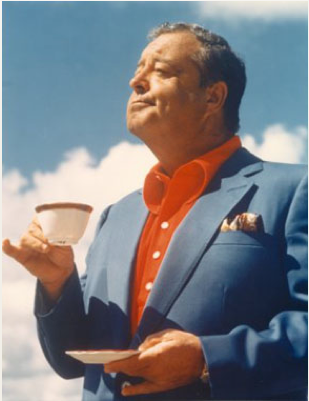 """jackie gleason w/ a cup of coffee  """"how sweet it is"""""""