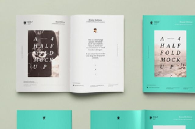 This is a A4 half-fold psd brochure template to let you showcase - half fold brochure template