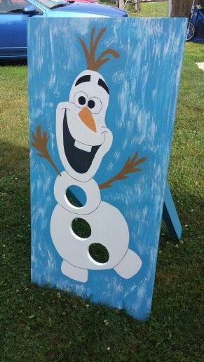 Wondrous Olaf Bean Bag Toss Olaf Birthday Party Winter Party Machost Co Dining Chair Design Ideas Machostcouk