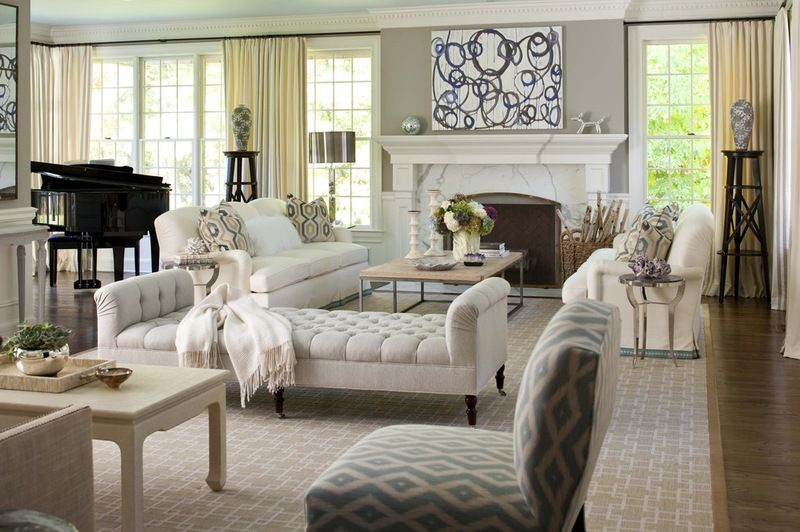 Use A Daybed As A Room Divider In A Really Large Living Room You