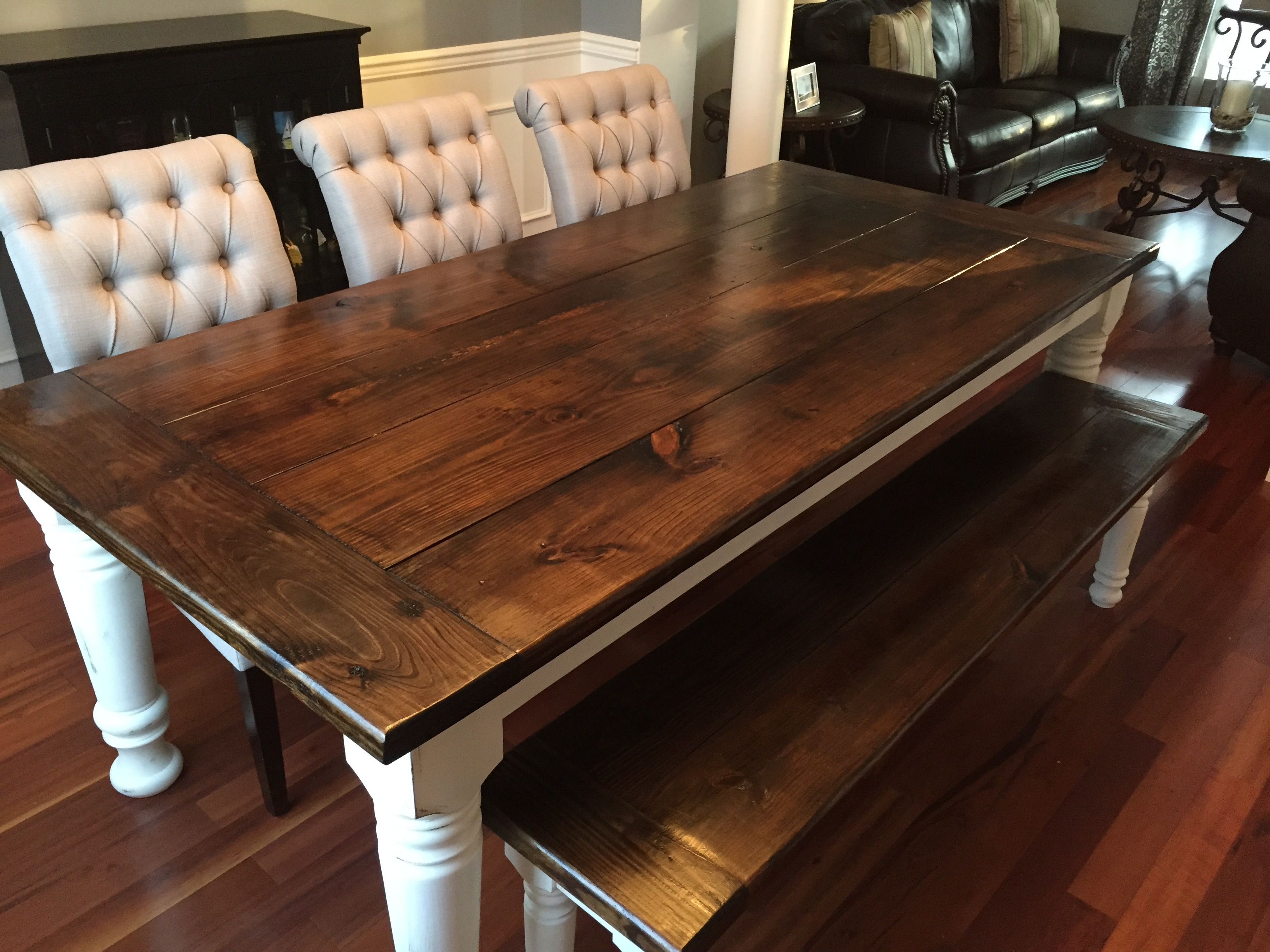 Do It Yourself Home Design: Farmhouse Table + Bench + Extensions