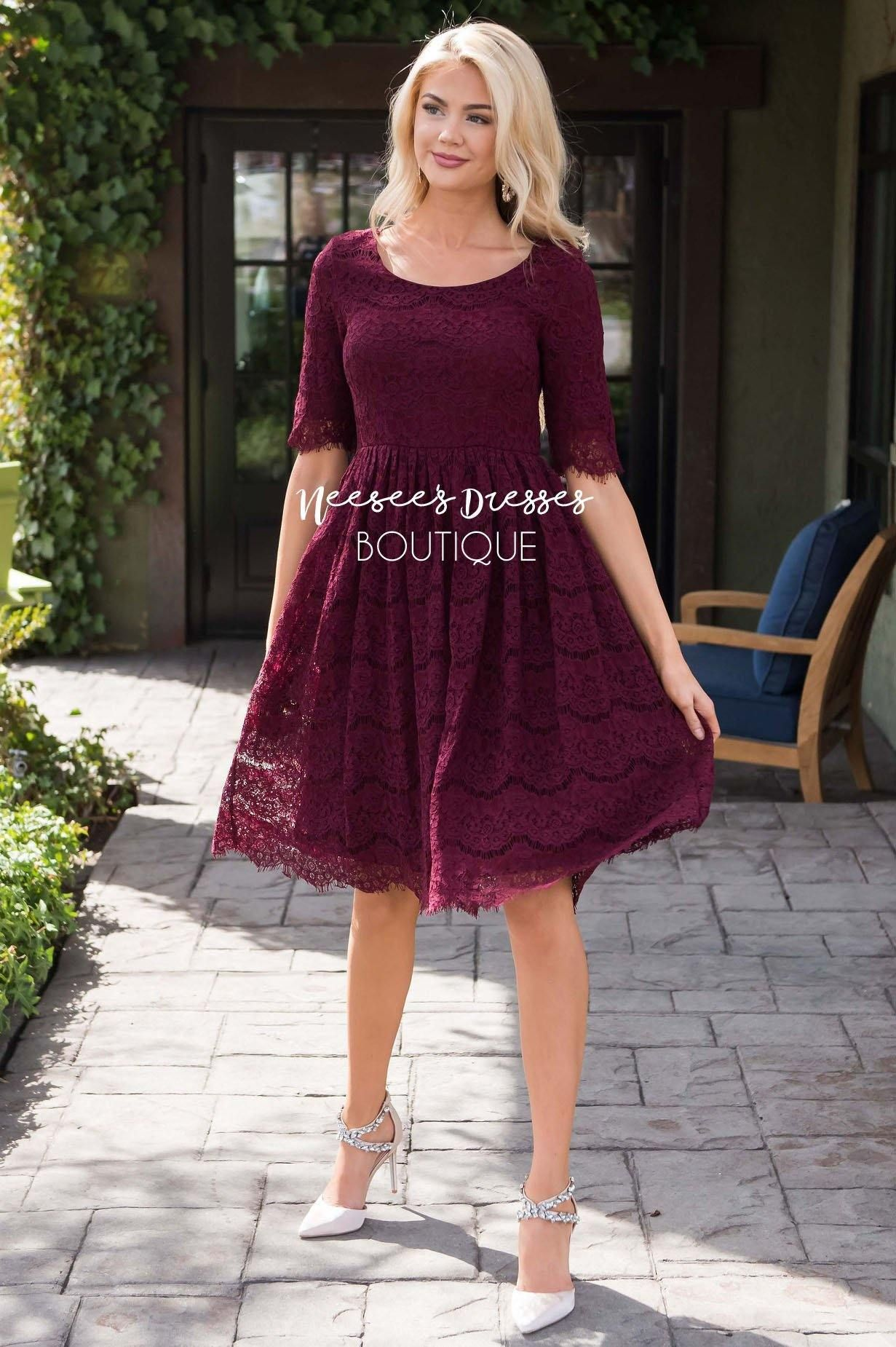 Burgundy Lace Modest Church Dress Best And Affordable Modest Boutique Cute Modest Dresses And Skirts For Modest Dresses Winter Dress Outfits Burgundy Dress [ 1850 x 1231 Pixel ]