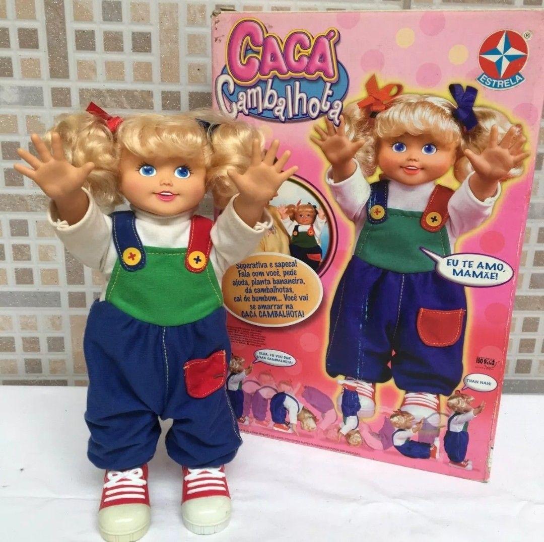 Boneca Caca Cambalhota Da Estrela Bonecas Antigas Bonecas Estrela Cambalhota