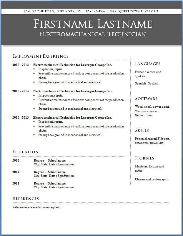 Free Mini Course Free Printable Resume Templates Free Printable Resume Sample Resume Templates