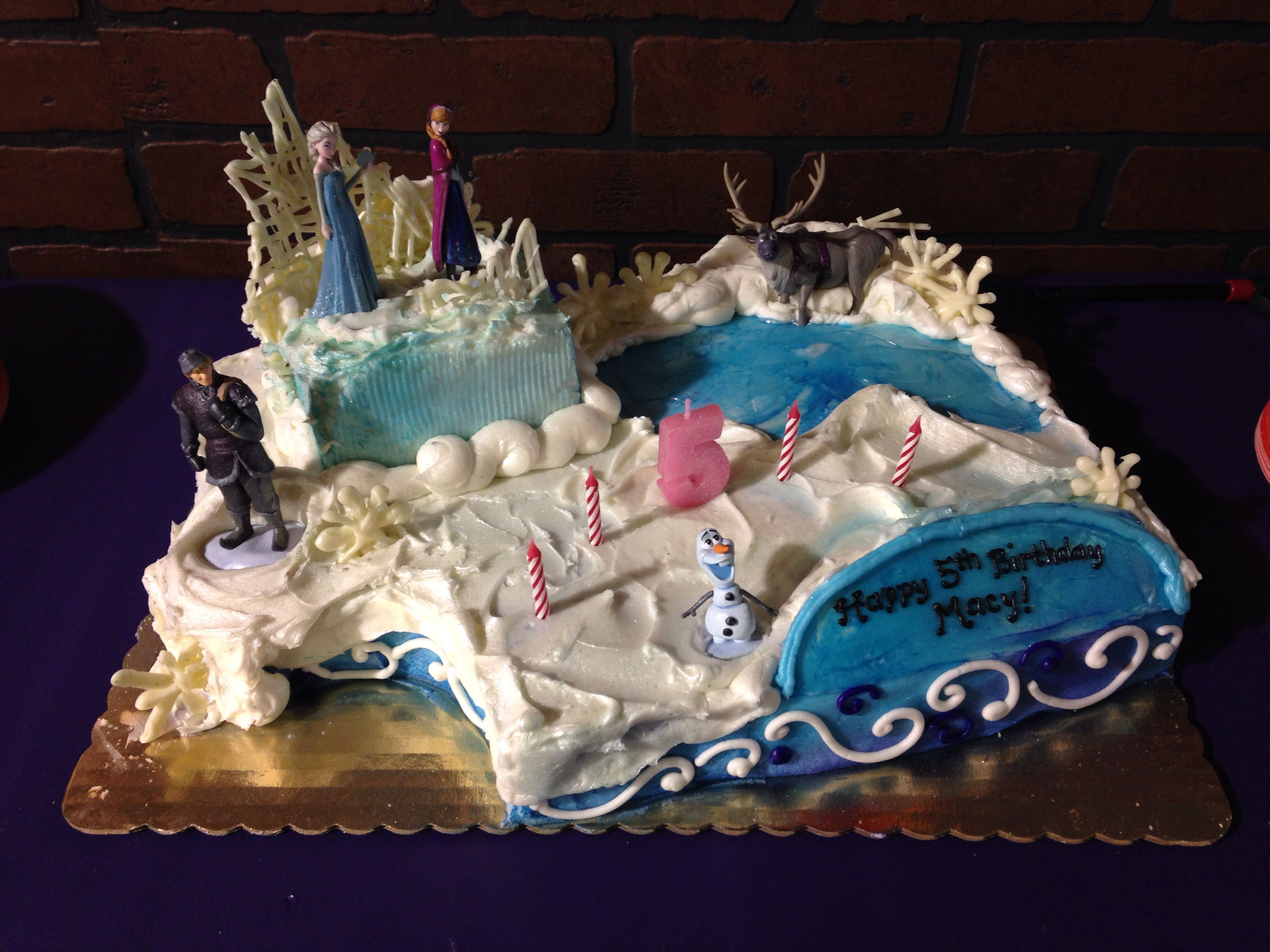 Frozen birthday cake! Characters came from the Disney ...