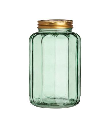 Green Glass Jar With Lid  H&m Us  Products I Like  Pinterest Magnificent Glass Kitchen Containers 2018
