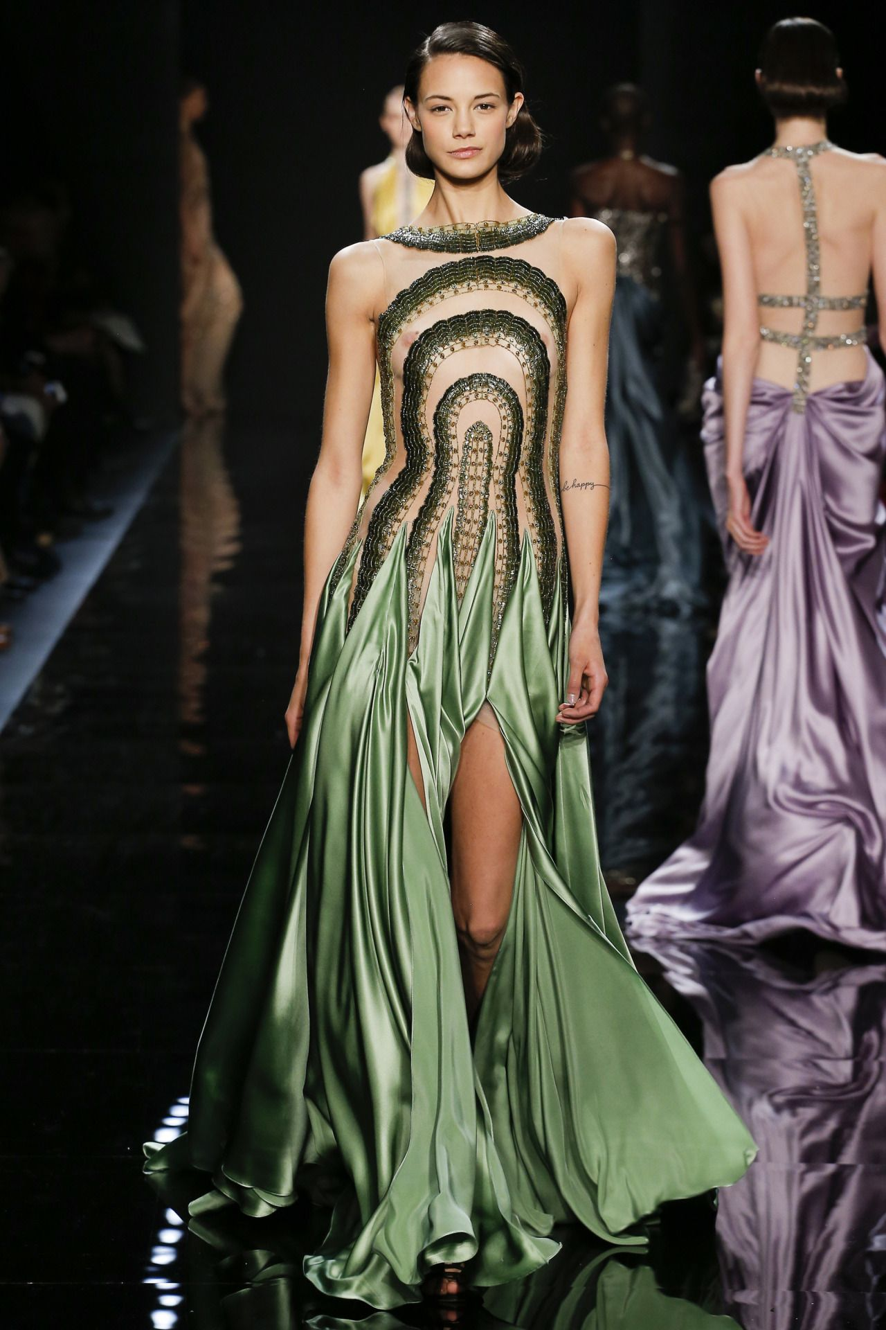 Andrea Berg Oops green scene | haute couture & vintage gowns | fashion