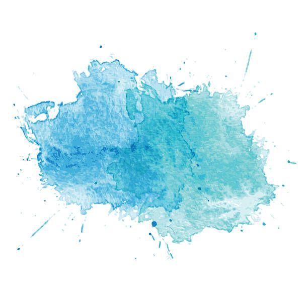 Blue Watercolor Splatters Vector Vector Art Illustration Fondos Acuarela Logo En Acuarela Arte De Acuarela