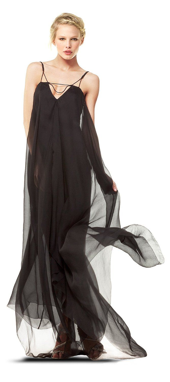 Crinkled silk chiffon long dress elegance pinterest crinkles
