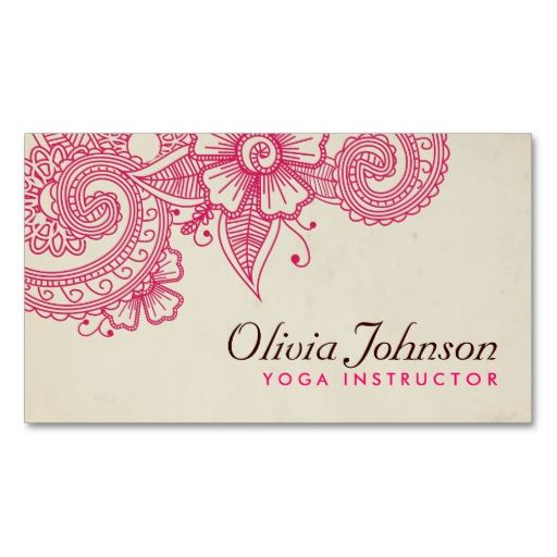Modern henna design business cards cartes de visita visita e modern henna design business cards reheart Image collections