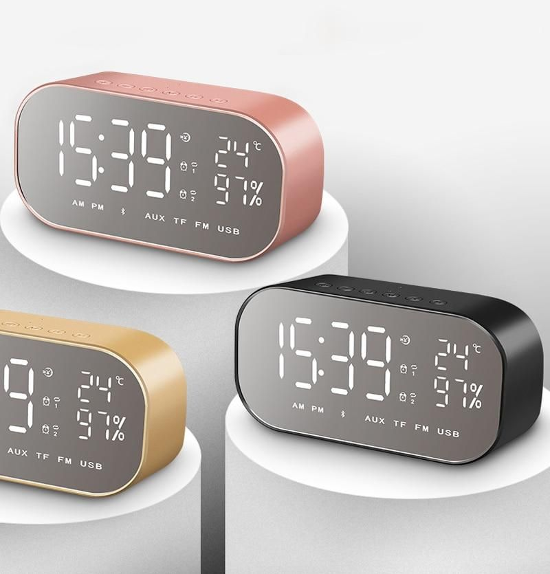 Smart Wireless Music Player Alarm Clock in 2019 | help each other